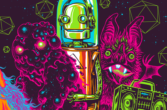Skrillex – Official Poster Art by Munk One