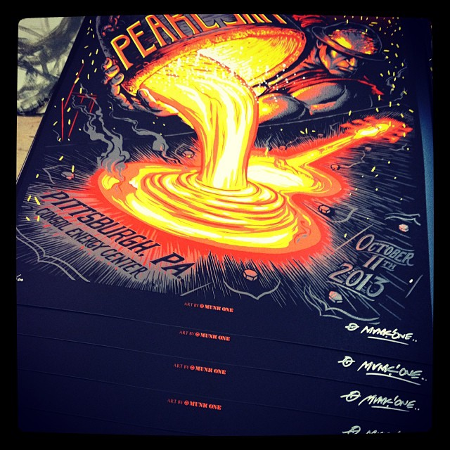 Pearl Jam Pittsburgh Print is Sold Out